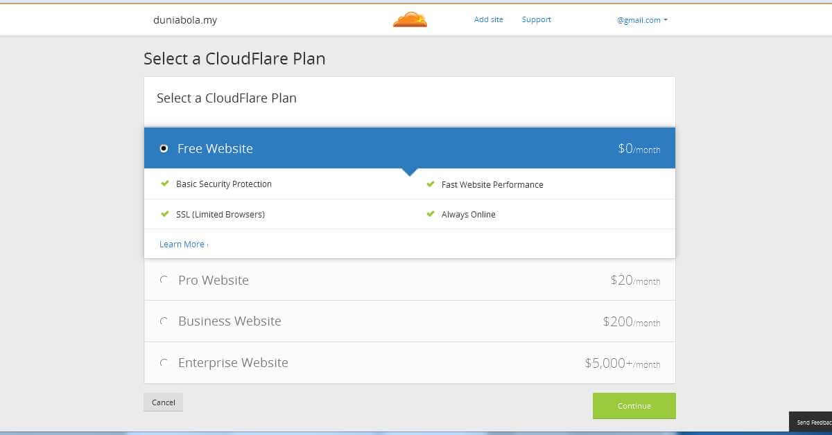Cloudflare Pricing Plans