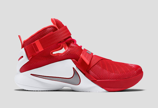 Nike LeBron Soldier 9 IX OSU Customize University 749500 601 Metallic Silver White wholesale Red new