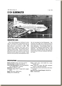 C-124_Globemaster - Releasable Data