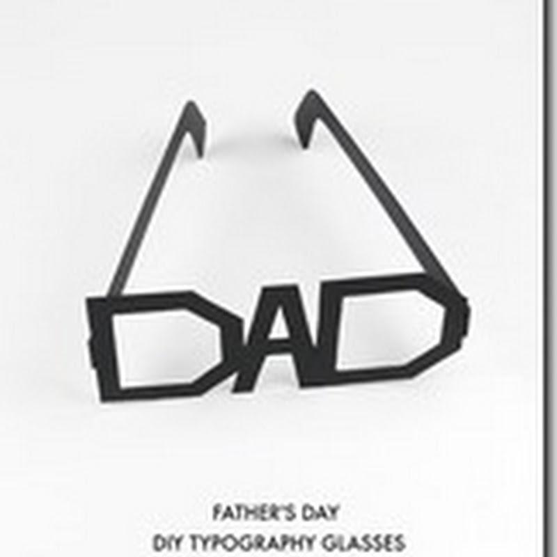 Gafas para imprimir día del padre en inglés