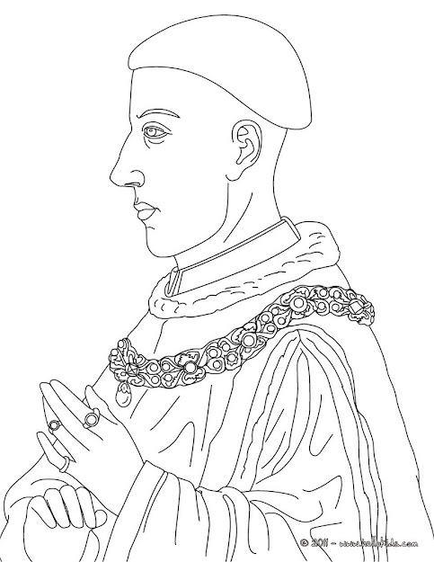 King Henry Colouring Page  Coloring Page  Famous People Coloring Pages   Famous British