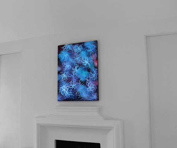 Victor Angelo Blue Painting Mantle White Cube Modern Contemporary Art