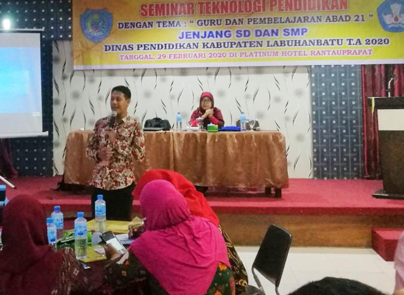 Kolaborasi 2 Gupres, Maluku dan Sumatera Utara pada Seminar Teknologi Pendidikan di Kab. Labuhanbatu