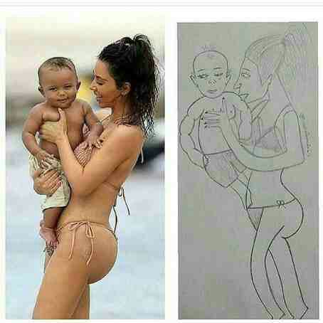 See what someone did to Kim Kardashian and Saint West