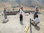 איזור החפירות של הסטודנטים היפאנים