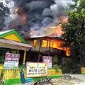 Hangus Terbakar, Rumah Kadus Lariccong Rata dengan Tanah