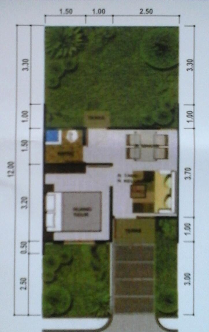 46 Desain Taman Rumah Type 30/60 HD