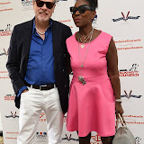 OIC - ENTSIMAGES.COM - Keith Taylor and Floella Benjamin, Baroness Benjamin, OBE at the Dockers Flannels for Hero's Charity cricket match and Garden party Chelsea London 19th June 2015  Photo Mobis Photos/OIC 0203 174 1069