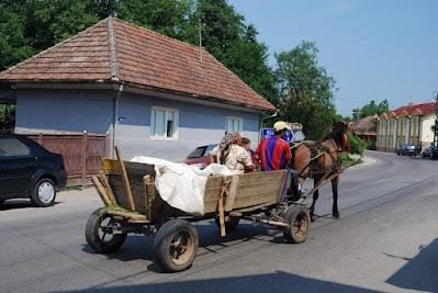 Pferdekarren in Hida