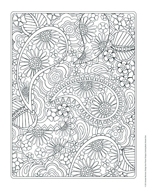 Floral Pattern Coloring Pages Free Colouring Pages