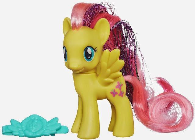 Hình ảnh Mắc Cỡ - Fluttershy Rainbow Power màu vàng, tóc hồng, đôi mắt to tròn trông thật đáng yêu
