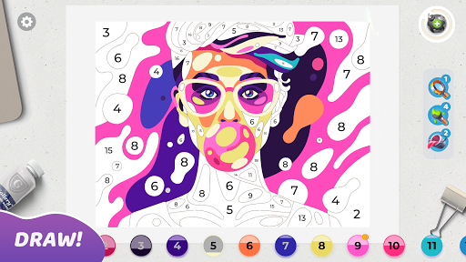 Gallery: Coloring Book by Number & Home Decor Game  screenshots 6