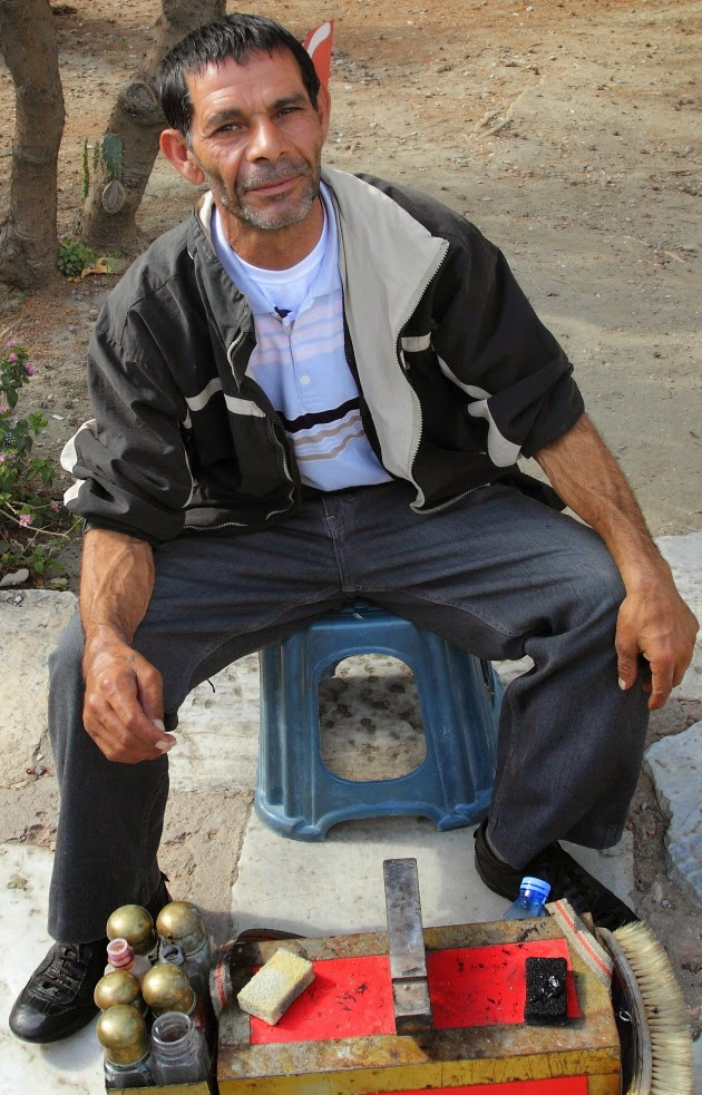 Shoe Shine Man at Selcuk, Turkey