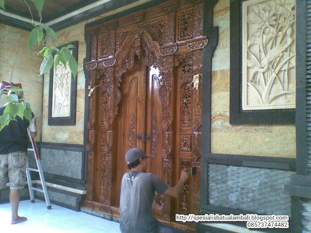 Rumah Minimalis Bali Pintu Gebyok