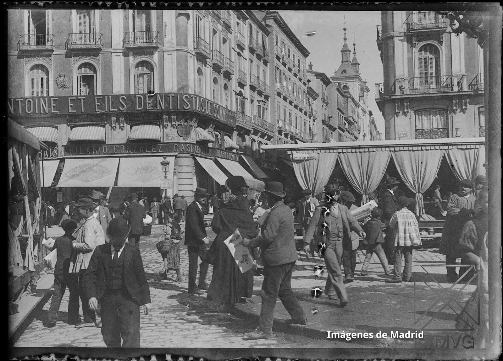 Imagenes antiguas de madrid algunos oficios desaparecidos for Puerta del sol 9 madrid