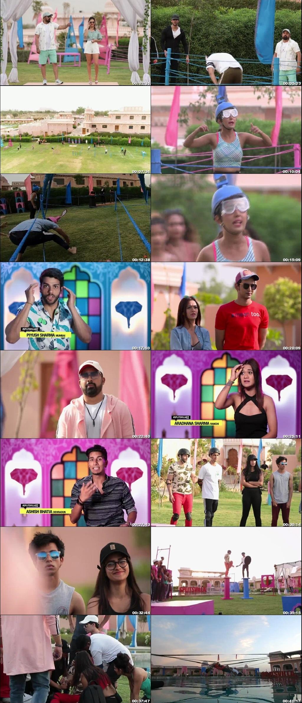 Screenshots Of Hindi Show Splitsvilla 12 18th October 2019 Episode 10 300MB 720P HD
