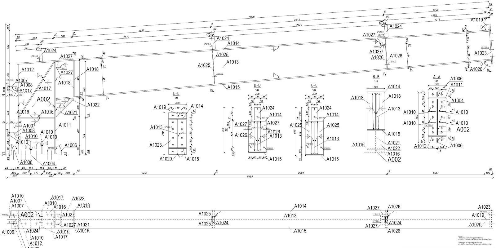 dokumentacja warsztatowa konstrukcji stalowej structure