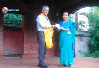 शेष घलेले दिए माइती नेपाललाई १० लाख सहयोग