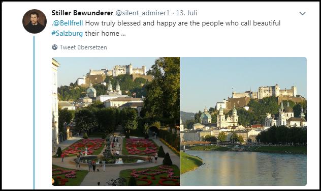 Stiller Bewunderer über Salzburg