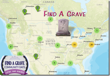 Find A Grave global cemetery meetups