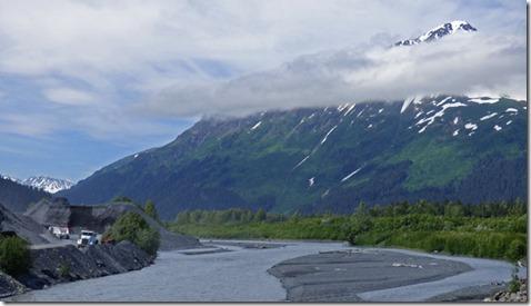 Resurrection River coming down off Exit Glacier