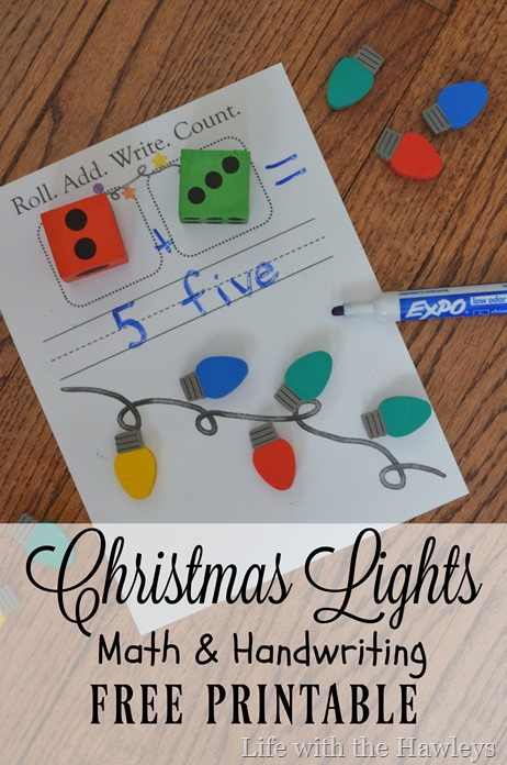 Roll Write Count Christmas Lights- Life with the Hawleys