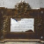 Plaque à la mémoire de Jules Brunet mort au combat de Lang-Son (Tonkin) en 1888