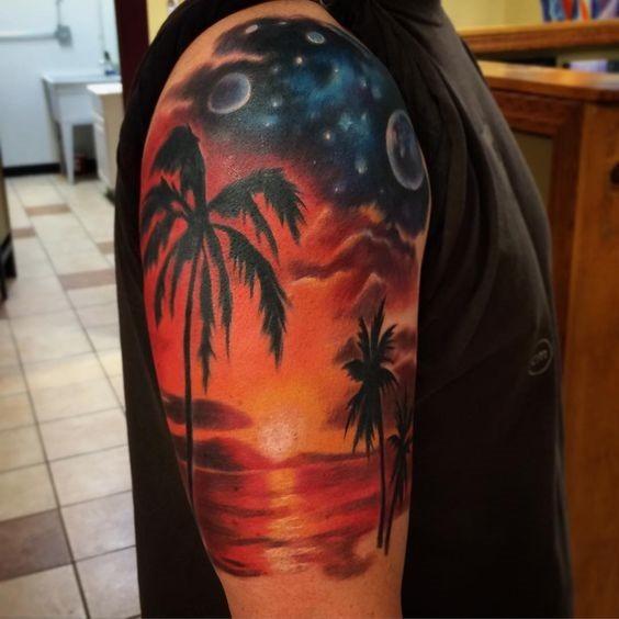 horizontes_largos_praia_braço_de_tatuagem