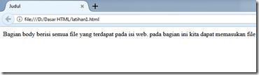 contoh struktur dasar html