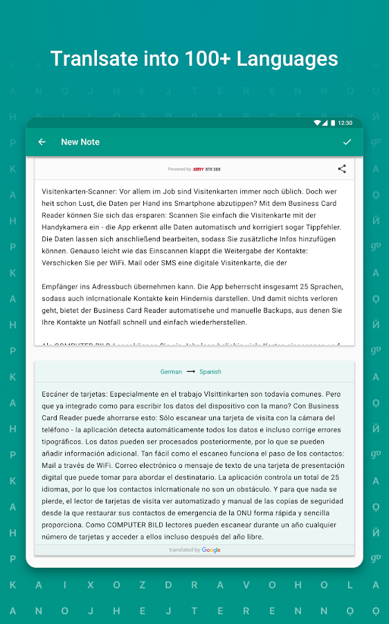 TextGrabber – image to text: OCR & translate photo- screenshot