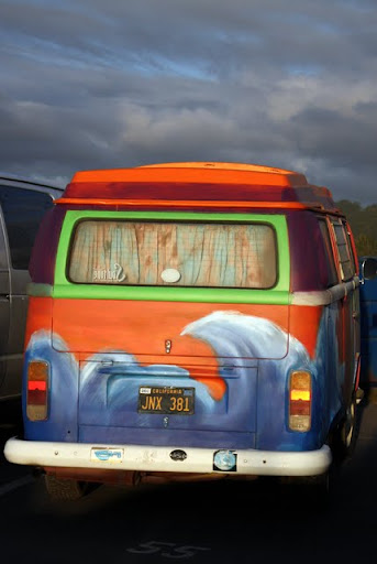 VW Bus in Half Moon Bay California