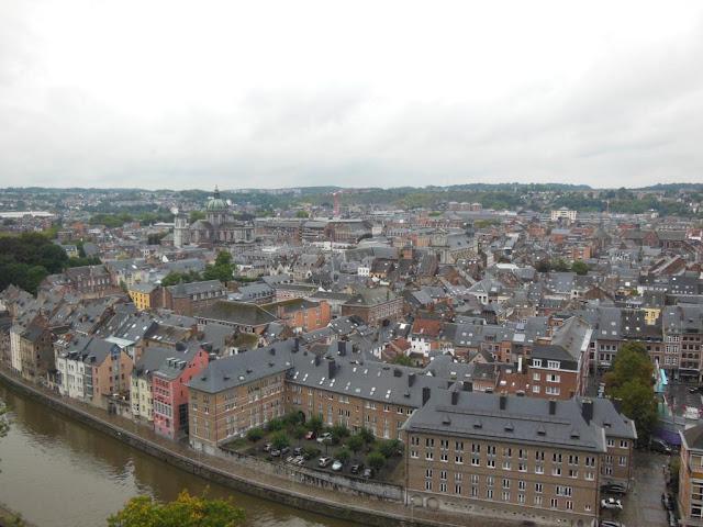 Namur y sus canales desde la Ciudadela
