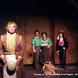 Christine Boice Saplin, Colin McCarty, Rita Russell and Eileen McCashion in ON THE VERGE - January/February 2000.  Property of The Schenectady Civic Players Theater Archive.