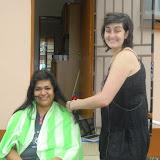 VA cutting hair, Christmas Mochudi 2011