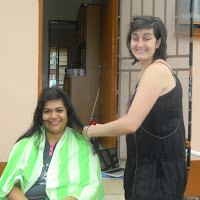 VA cutting hair, Christmas Mochudi 2011