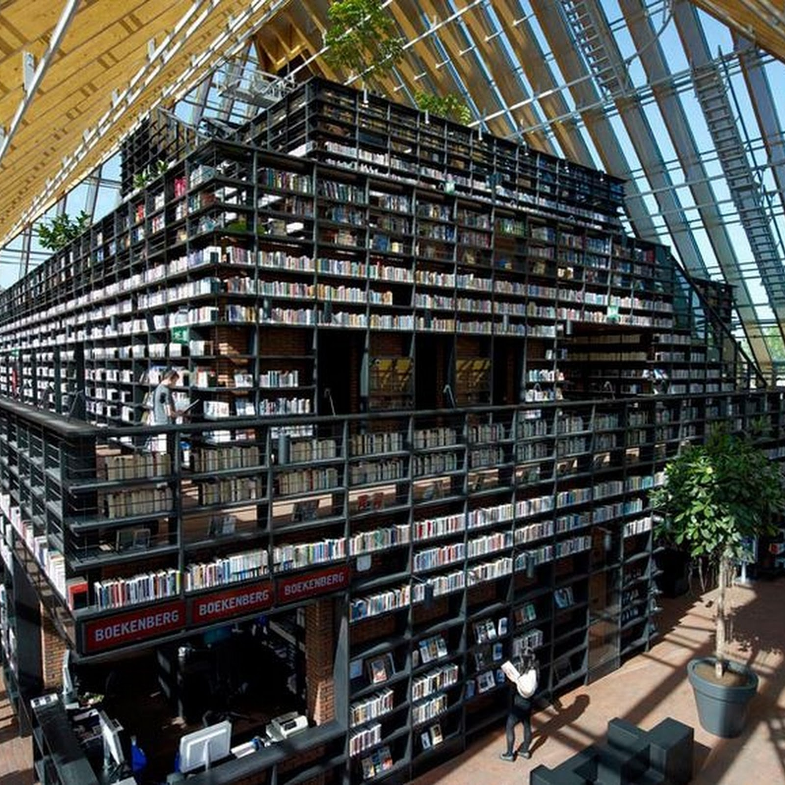 The Book Mountain in Spijkenisse, The Netherlands