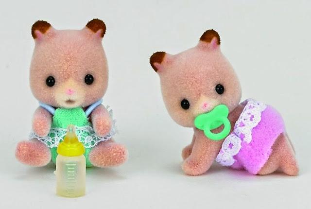 Chuột Hamster sinh đôi Sylvanian Families 3586 với bộ lông mềm mịn màu hồng nhạt