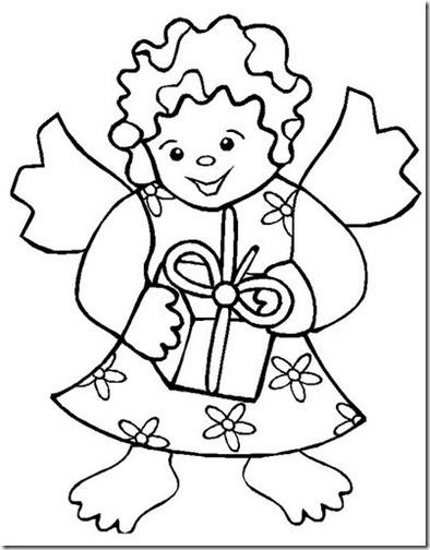 angeles navidad colorear (7)