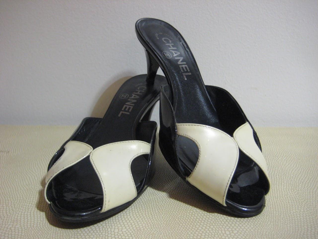 Chanel Peep-Toe Mules