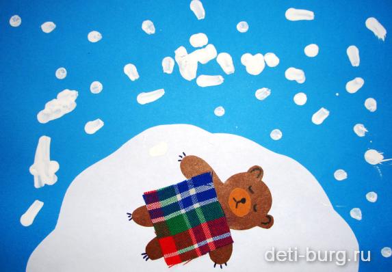 Аппликация медведь