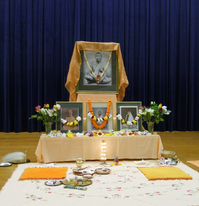 The altar after puja