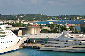 View of the Boatyard, Barbados from the Queen Mary 2