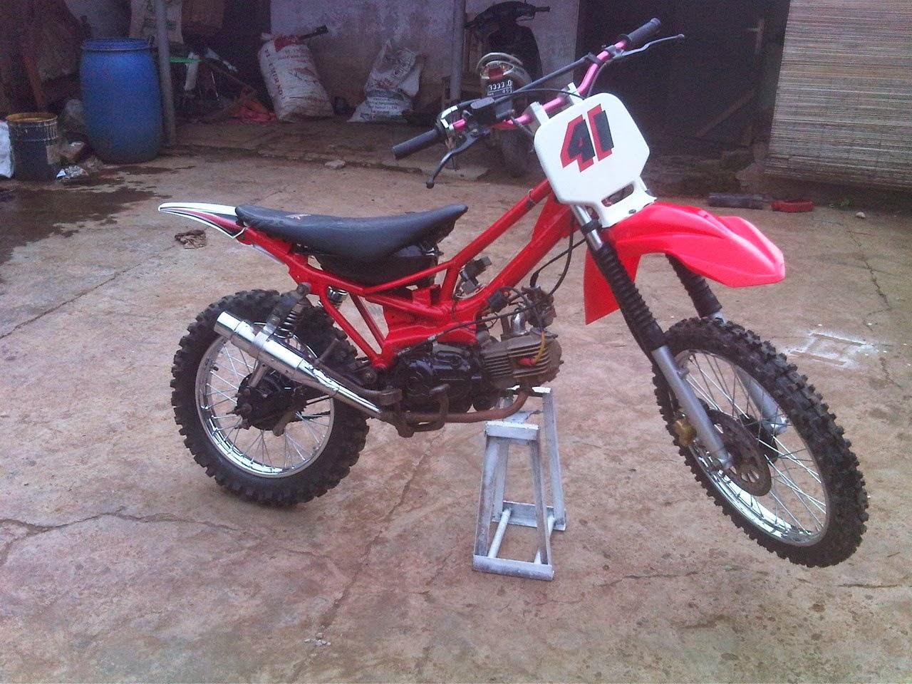 Motor Yamaha Force 1 Modifikasi Trail