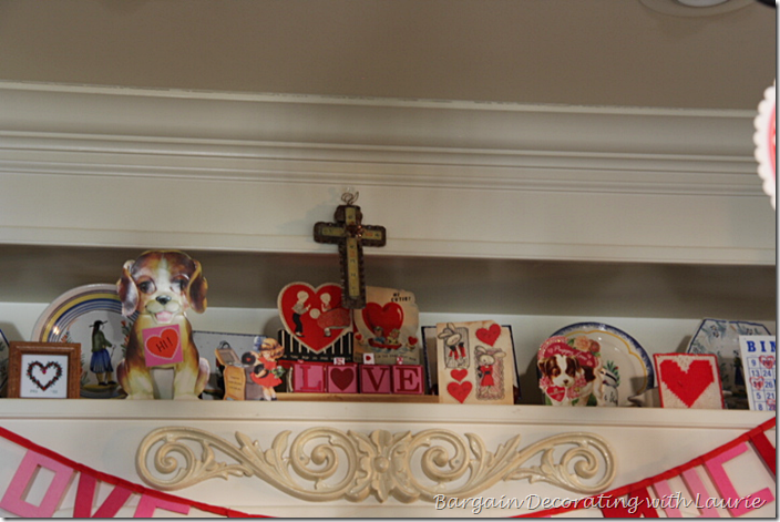 Valentine Cards as Decor