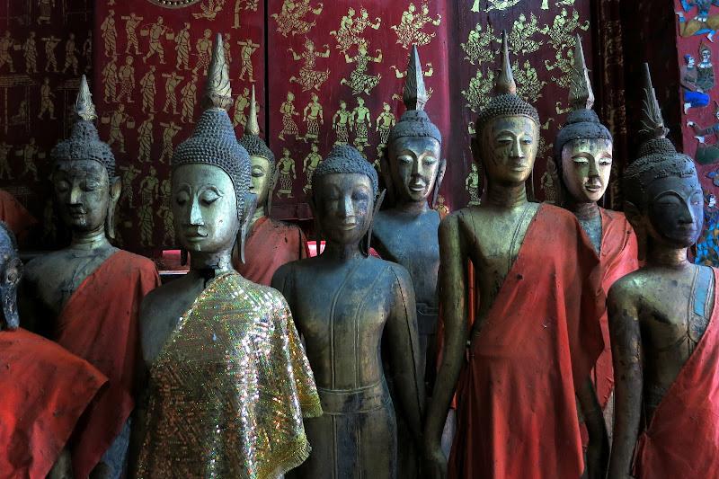 Buddhas at Wat Xieng Thong