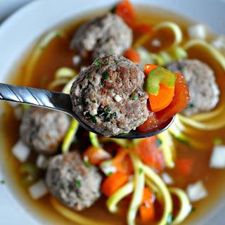 Italian Meatball Zoodle Soup Recipe