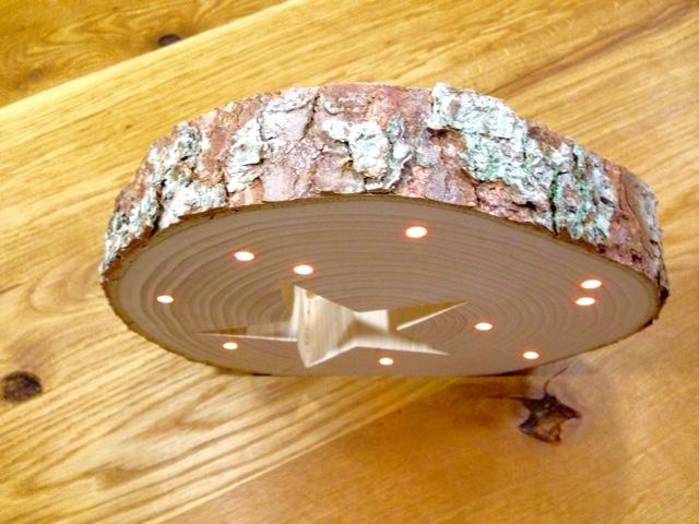 Basteln Mit Holz Baumscheiben ~ muckelfuchs Holz, Stern, Licht  ein bisschen Weihnachtsstimmung