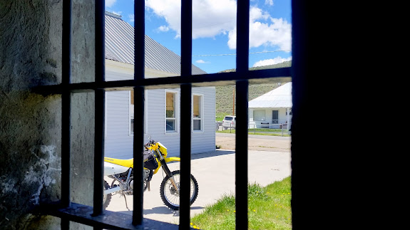 Behind bars at the old Scofield jail