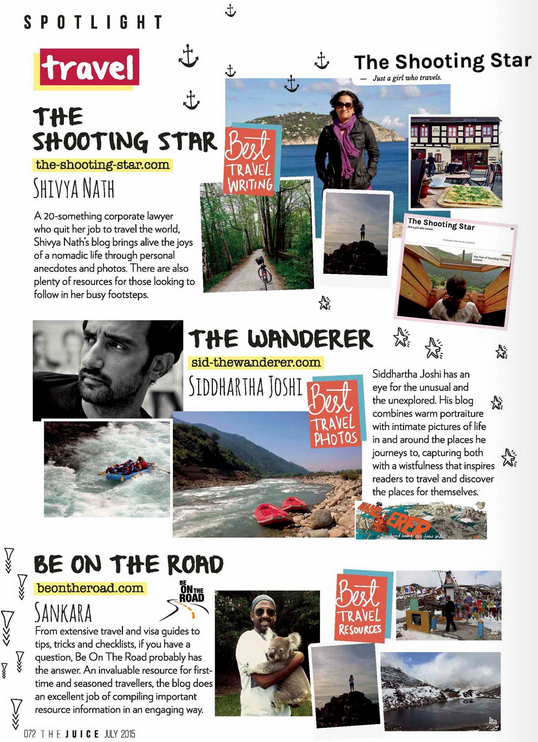 Best Travel Blogs by Jabong Magazine