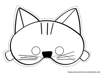 gato mascara de animales  para colorar (6)_thumb